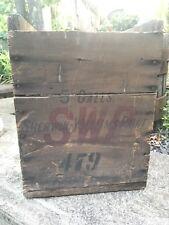 C. 1904 Sherwin Williams Paint Wood Shipping Crate Parlin Framingham Mass RARE