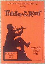Fiddler on the Roof Program 1988 by Parramatta Theatre Company