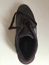 Lacoste mens trainers Leather Brown UK 6