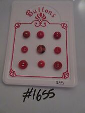 #1655 Lot of 9 Red Buttons