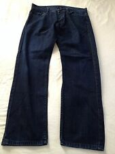 Armani Exchange AX Mens Mid J66 Straight Leg Dark Blue Jeans Size 33 Inseam 30