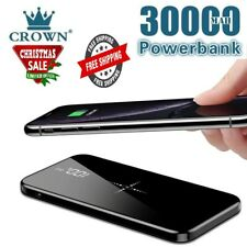 30000mAh Wireless Charger Power bank ,Dual USB Mirror Screen ,Chirstmas Gift