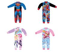 Kids All in One Boys Girls Fleece Character Childrens Onesie1 Pyjamas 18/24 - 8Y