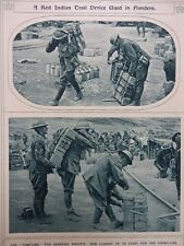 1917 CANADIANS USING TUMP-LINES TO CARRY SUPPLIES TO THE FIRING LINE WWI WW1
