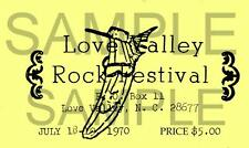 The Allman Brothers pair of Love Valley repro Tickets.July18-19 1970
