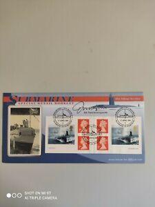 2001 - Submarine - Retail Booklet pane - signed CDR. Frank Worthington