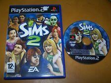 LES SIMS 2  -  PS2 - VF - BOITE CD  SANS LE LIVRET