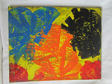 Austrian pop art mixed oil painting on canvas framed abstract bauhaus modernist