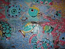 Home Innovations Aruba Turtles Fish Sea Life Vinyl Shower Curtain 70 X 70