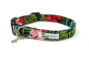 Tropical Hibiscus Adjustable Dog Collar