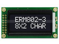 5V Black 8x2 Character LCD Module Display w/Tutorial HD44780,White Backlight