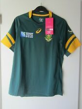 NEW Rugby South Africa Springboks ASICS World Cup 2015 Jersey 14 years