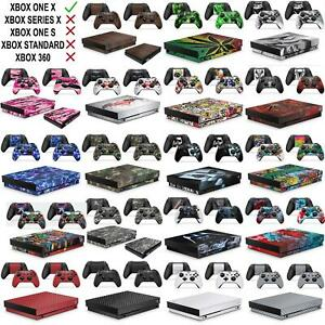 Skins for Xbox One X XBX Console Decal Vinal Sticker + 2 Controller