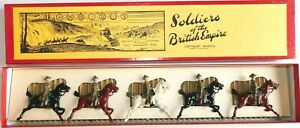 Pre-War BRITAINS 1930s Lead, Imperial Yeomanry Mounted, 5 Piece Boxed Set #105