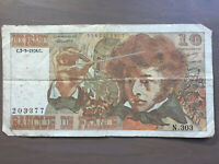 France 10 Francs Banknote 1978 Old Collectible Foreign Paper Money