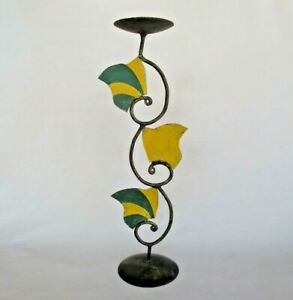 Colorful Beautiful Tree shape Painted Iron Candle Holder Tea Light Accent