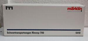 """Märklin Spur 1 """"Schwertransportwagen Rlmmp-700"""" - 5418 - OVP - unbespielt"""