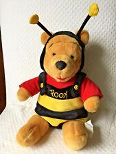 "Disney Winnie the Pooh Dressed as Honey Bee 14"" Tall Plush Stuffed"