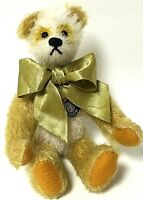 """Knickerbocker 10"""" Yellow Mohair Jointed Limited Edition Teddy Bear Ying Hua"""