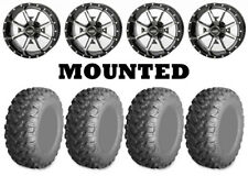 Kit 4 AMS RadialPro AT Tires 26x9-12/26x11-12 on Frontline 556 Machined SRA