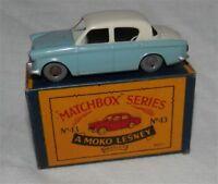60s.Matchbox.Lesney.43,Hillman Minx.Grey..plastic wheels.MINT IN BOX,ORIGINAL