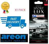 Areon Sport LUX High Quality Perfume Air Freshener GOLD CAR,HOME,OFFICE -1PK NEW
