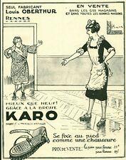 Publicité ancienne brosse Karo Oberthur Rennes 1925 issue de magazine