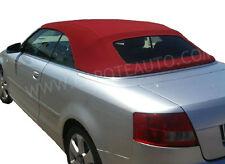 Capote cappotta Audi A4 bordeaux rossa cabrio cabriolet lunotto rinforzato  s4 25fe9ef9dc7e