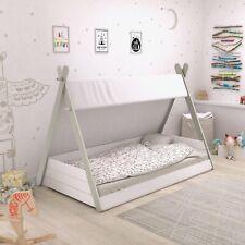 Babybett TIPI mit Lattenrost 70x140cm Kleinkindbett Kinderbett Indianerzelt Zelt