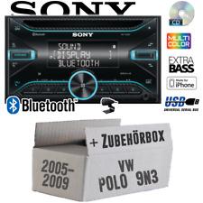 Sony Autoradio für VW Polo 9N3 2DIN/Bluetooth/CD/USB/iPhone KFZ Auto Einbauset