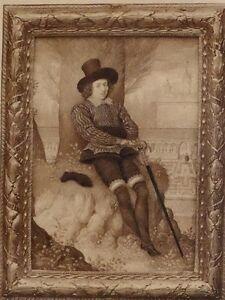 1896 Antik Aufdruck (Queen Elizabeth I) Sir Philip Sidney