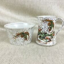Antique Creamer Jug & Sugar Bowl Art Deco Phoenix Ware Thomas Forester & Sons