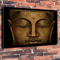"Budda, Buddhism Printed Canvas A1.30""x20""~Deep 30mm Frame Spiritual Healing V3"