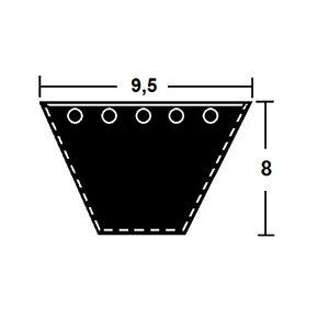 Keilriemen SPZ 587