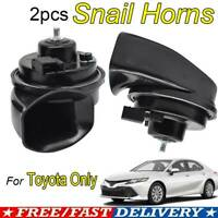 2x Snail Horns For Toyota RAV4 Camry Corolla Highlander Tacoma Prius Yaris C-HR