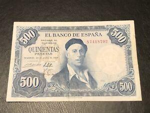 Spain 1954 500 Pesetas Banknote