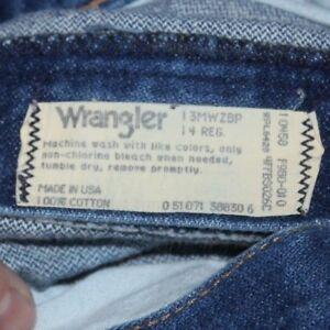 Vintage  US made  Wrangler   Blue Denim  JEANS    size 14  reg