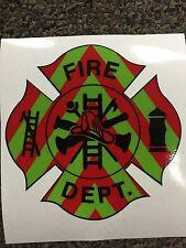 "FIRE DEPARTMENT EMT Firefighter Chevron Reflective 3M Vehicle Sticker Decal 4"""