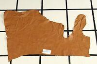 "Gorgeous ""Mariner"" Pale Orange Scrap Leather Hide Approx. 4.25 sqft. RK59W10-7"