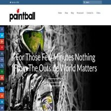 """Fully Stocked Dropshipping PAINTBALLING Website Store. """"300 Hits A Day"""""""