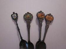 Spoons Celest Australia Distinctive Souvenirs Bahamas Set Of 4 Collectibles