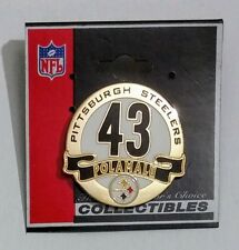 Pittsburgh Steelers Troy Polamalu Circle Badge Pin #43 NFL Licensed Collectible