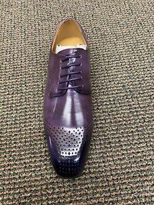 Antonio Cerrelli 6873 Purple Lace-up Men's Dress Shoe