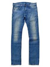 Diesel Mens 32*34 Tharvar Light Blue Distressed Slim-Skinny Stretch Jeans 008W7