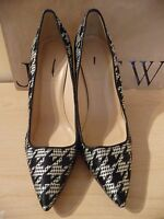 JCrew Roxie Printed Pumps Size 8.5 $298 Style B0288 Houndstooth Hee