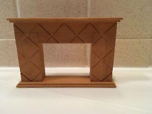 Vintage Dollhouse Miniature Unfinished Wood Fireplace 1:12