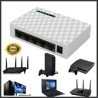 5Port Gigabit Ethernet 10/100/1000Mbps Switch Lan Hub Adapter for Router & Modem