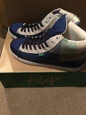 Vegan Shoes Size 4 Keep Company. High Top -  Guerra - Blue Picnic Plaid