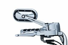 HARLEY-DAVIDSON KURYAKYN HEAVY INDUSTRY CHROME WITH BLACK ACCENT MIRRORS