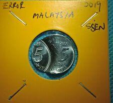 ERROR COIN MALAYSIA 5SEN 2019YEAR
